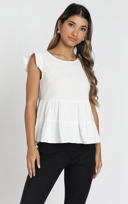 Rosetta Top in white - 6 (XS), White, hi-res image number null