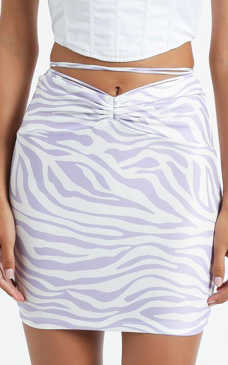Lelo Skirt in Purple Zebra Print