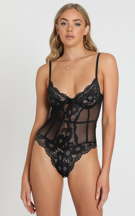 Its All True Bodysuit in Black Lace