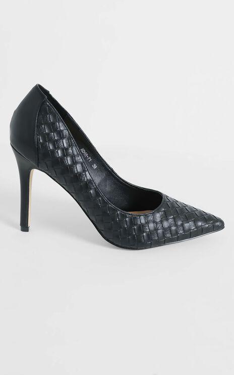 Verali - Huxley Heels in Black Smooth