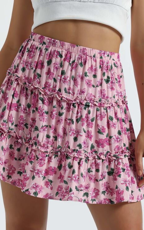 Aria Skirt in Lilac Floral