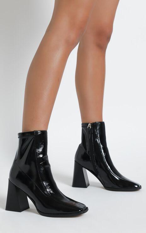 Alias Mae - Tide Boots in Black Stretch Patent