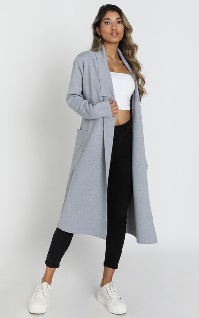 Around The World coat in grey marle - M/L, Grey, hi-res image number null