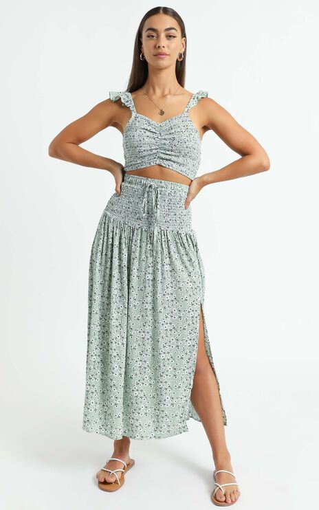 Tilly Two Piece Set in Green Floral