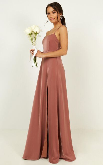 Will it be us dress in dusty rose - 20 (XXXXL), Pink, hi-res image number null