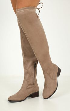 Verali - Elliot Boots In  Taupe Micro