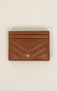 Peta and Jain - Izzy Card Holder In Tan Quilted
