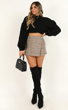 Shes The One Skort In Beige Check