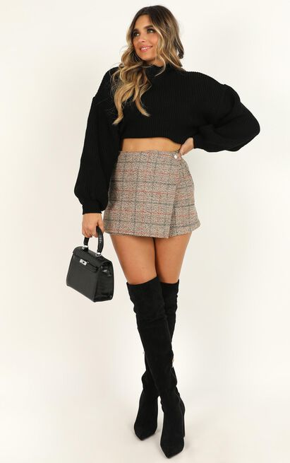 Shes The One Skort In beige check - 8 (S), Beige, hi-res image number null