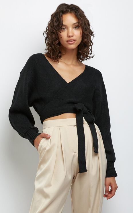 Dawn Knit Jumper in Black