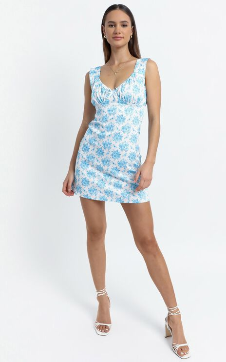 Roland Dress in Blue Floral