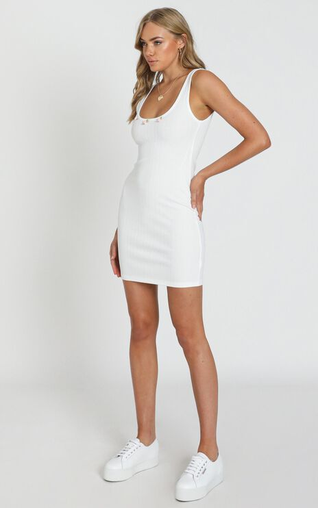 Carefree Days Dress in White