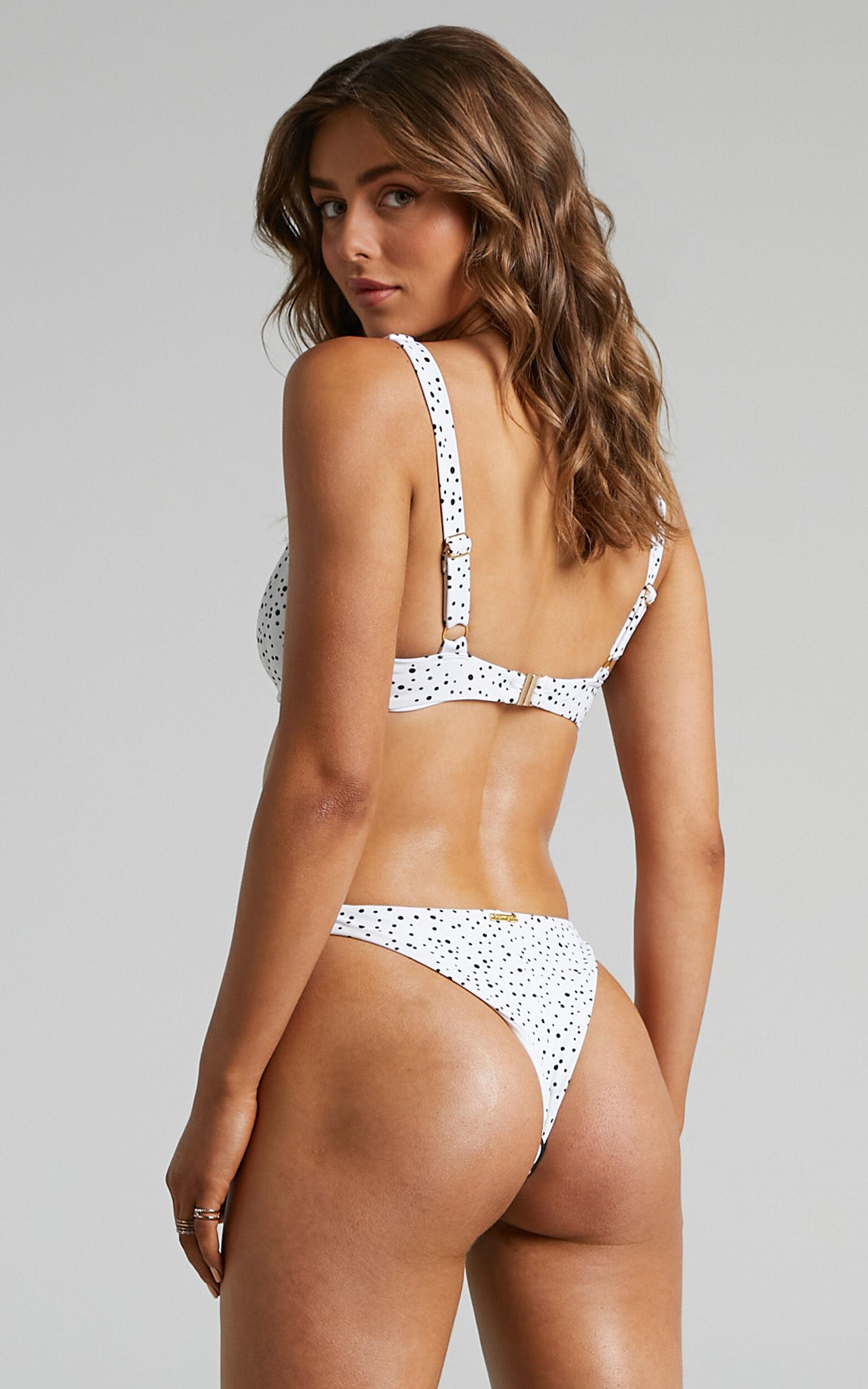 Kalama Balconette Bikini Top in Cream Spot - 06, CRE1, super-hi-res image number null