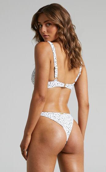 Kalama Balconette Bikini Top in Cream Spot