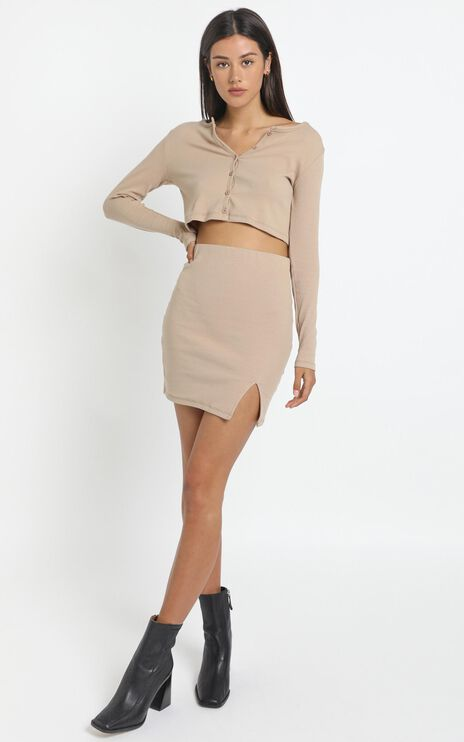 Karah Skirt in Tan