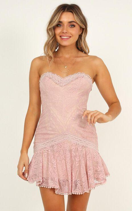 Unending Moment Dress In blush lace