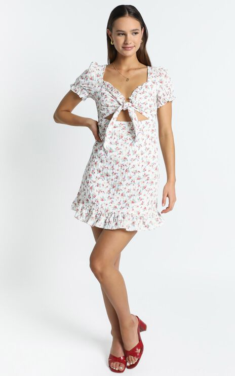 Tennessee Dress in White Floral