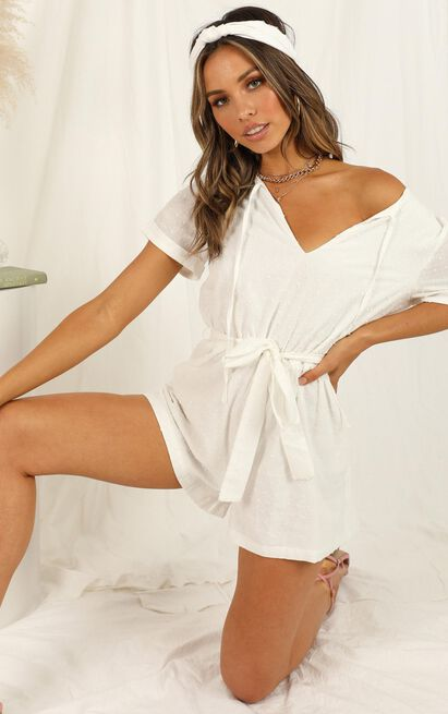 Northern Sun Playsuit in white - 20 (XXXXL), White, hi-res image number null