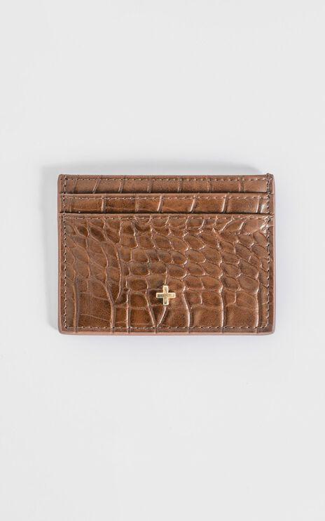 Peta and Jain - Izzy Card Holder in Chocolate Croc