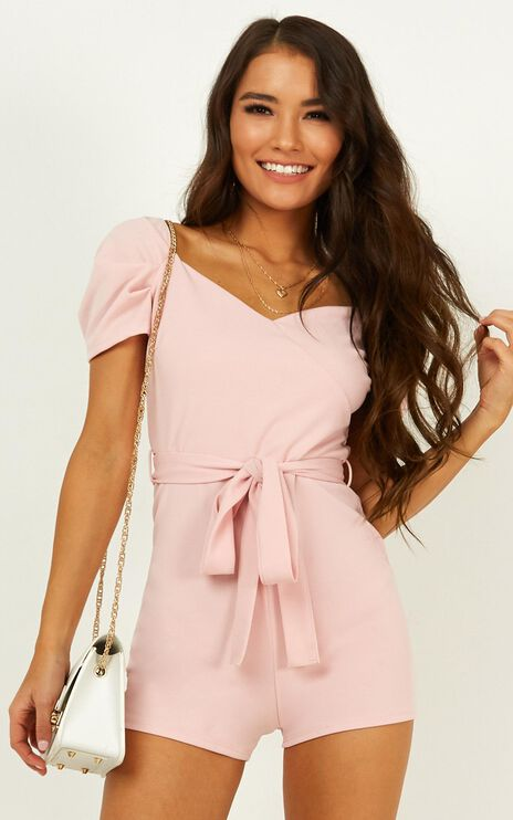 First Draft Playsuit In Pink