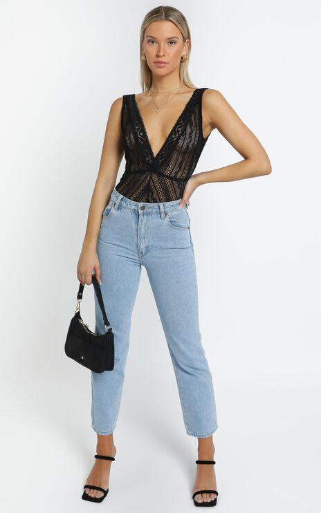 Korty Bodysuit in Black Lace
