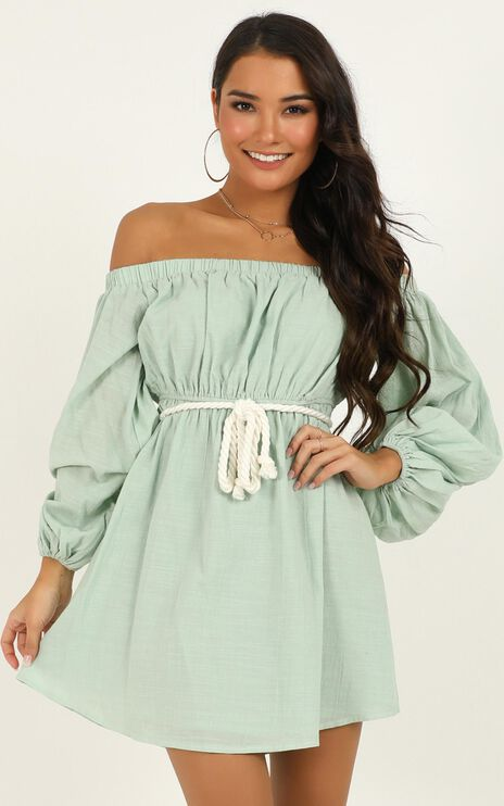 Light Wave Dress in Sage