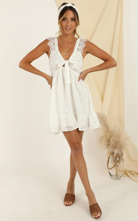 Lucky Together Dress In White