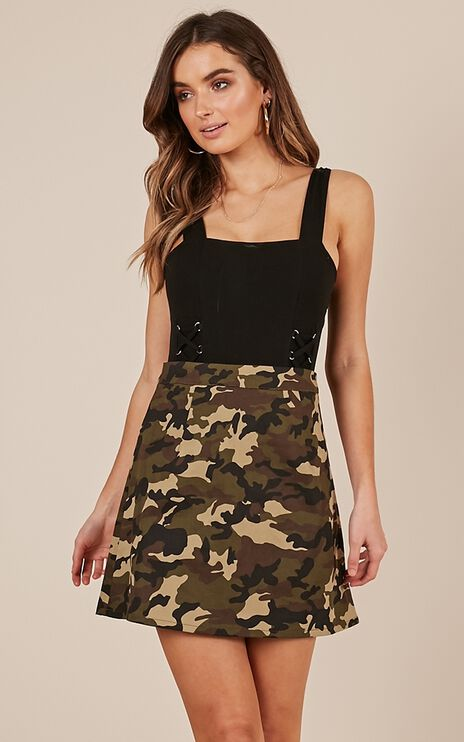 Hidden Away Skirt In Camo