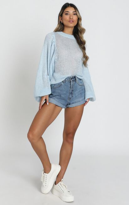 Correcting You Jumper in pale blue - 14 (XL), Blue, hi-res image number null