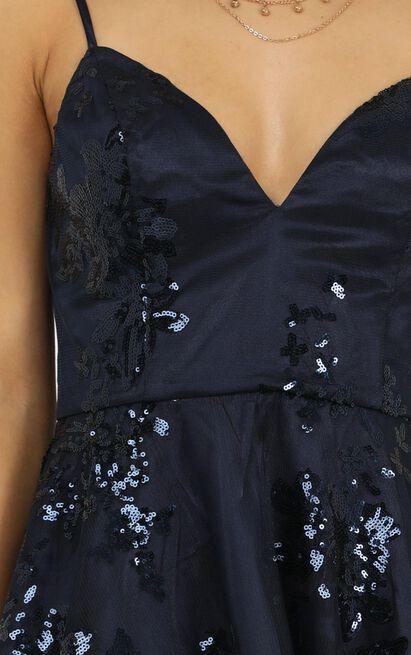 Fair Shake Dress in navy sequin - 20 (XXXXL), Navy, hi-res image number null