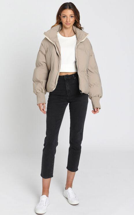 Windsor Puffer Jacket in Beige