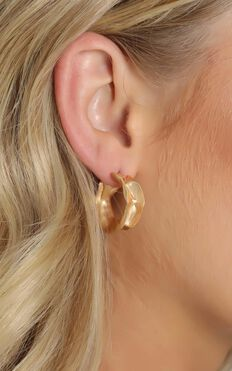 Latest Addition Hoop Earrings in Gold