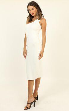 Summer Sun Knit Midi Dress in White