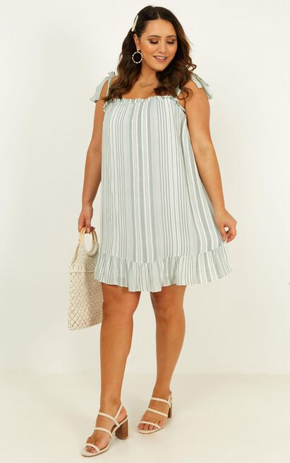 Together For Now Dress in sage stripe - 20 (XXXXL), Sage, hi-res image number null