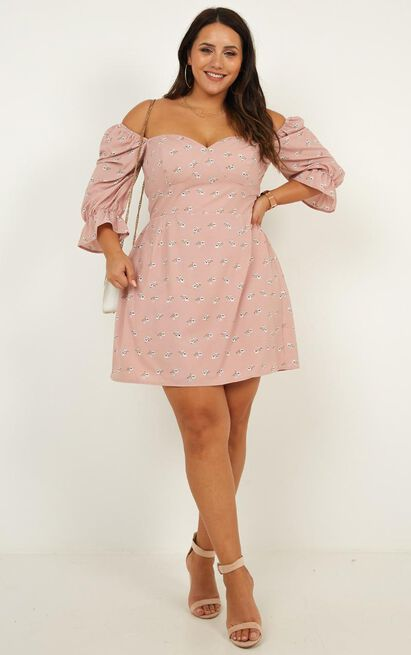 The Night Dress In blush floral - 20 (XXXXL), Blush, hi-res image number null
