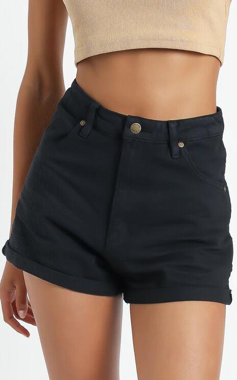 Rollas - Dusters Denim Shorts in Black Dust