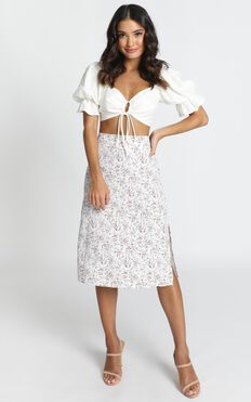 All Over Now Skirt In White