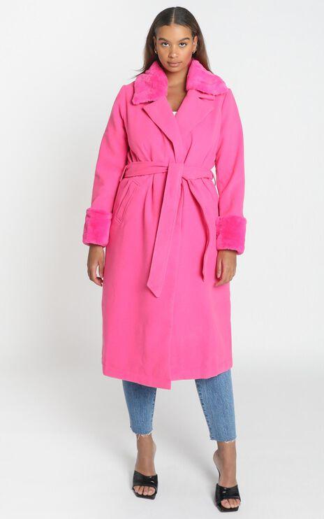 Manhattan Mornings Coat in hot pink