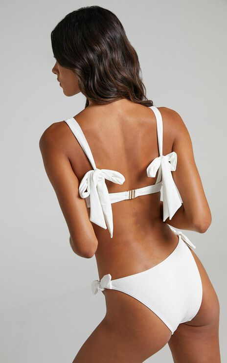 Minkpink - Constance Ruched Crop Top in White