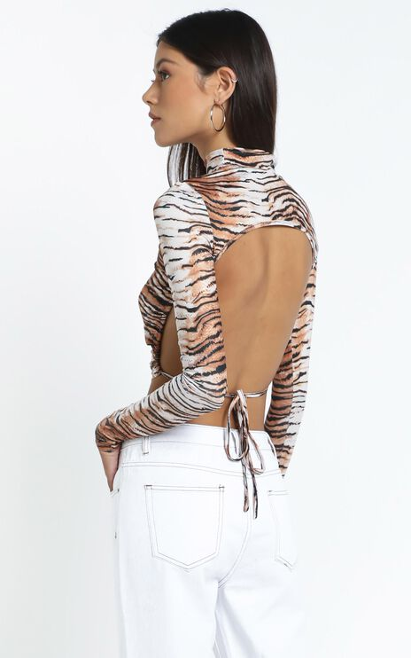 Lioness - Greenwich Backless Top in Tiger