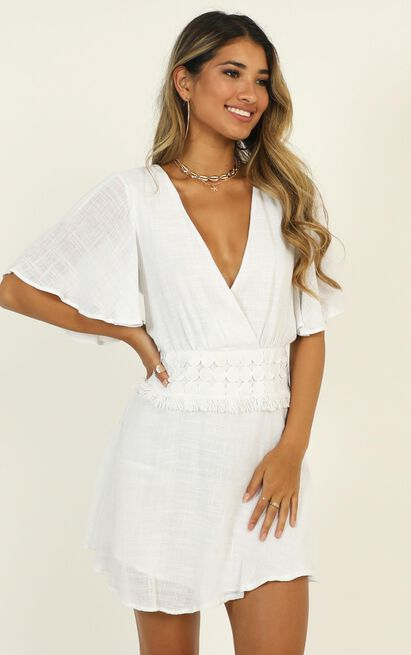 Berkley Dress in white - 12 (L), White, hi-res image number null