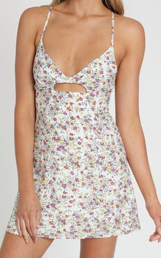 Climbing Mountains Dress In White Floral