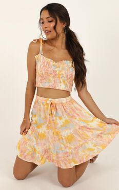 Spin Around Skirt In Pink Tie Dye