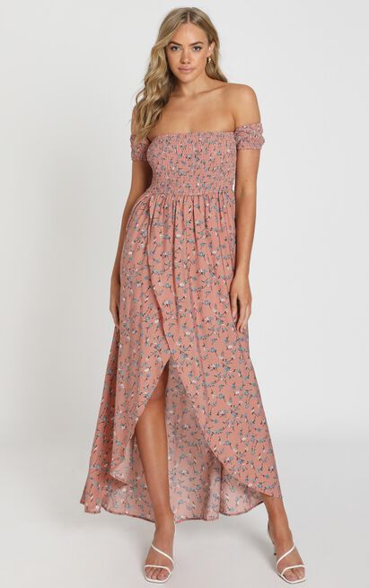 Lovestruck maxi dress in blush floral - 20 (XXXXL), Blush, hi-res image number null