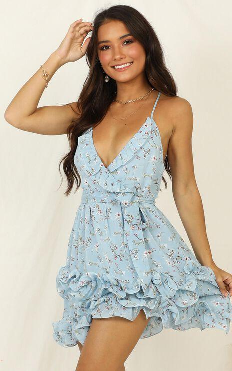 Violet Hill dress In Blue Floral