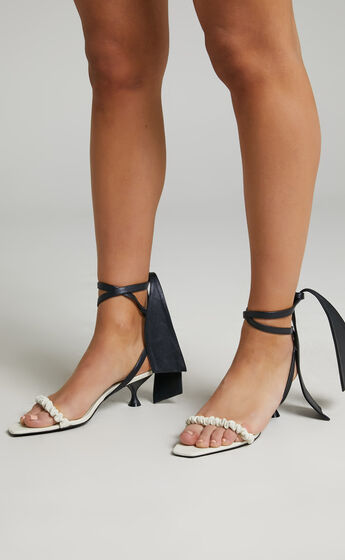 Jaggar The Label - Scrunched Sandal Heel in Ivory
