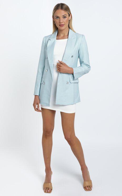 Evanna Blazer in Blue Check