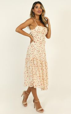 Danielle Dress In White Floral