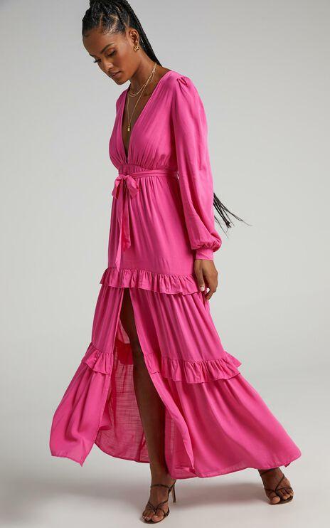 Missandei Dress in Bubblegum Pink