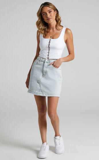 Acadia Denim Skirt in Light Vintage Wash